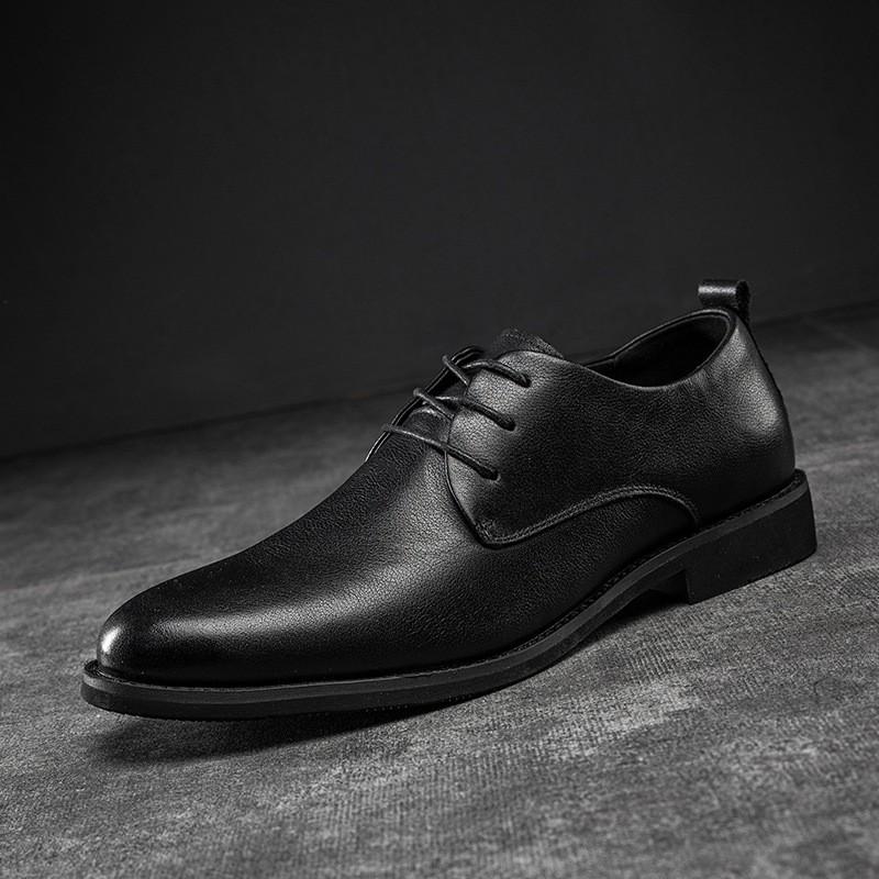 鹿城皮鞋跨境 专业定制男式正装仿皮鞋